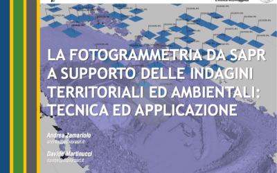 La fotogrammetria da SAPR a supporto delle indagini territoriali ed ambientali: tecnica ed applicazione