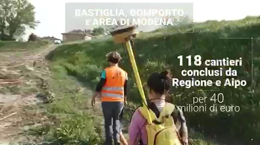 """Ricostruzione post-sisma RER: Messa in sicurezza argine Secchia (4'10"""")"""