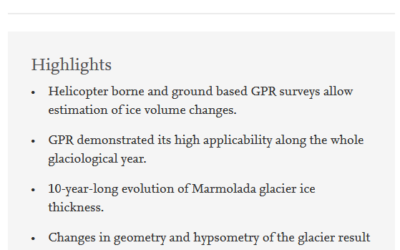 Recent evolution of Marmolada glacier (Dolomites, Italy) by means of ground and airborne GPR surveys