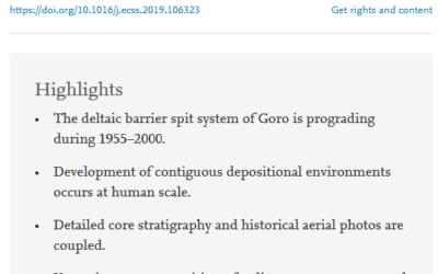 Modern sedimentary facies in a progradational barrier-spit system: Goro lagoon, Po delta, Italy