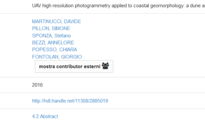 UAV high resolution photogrammetry applied to coastal geomorphology: a dune and a barrier island case