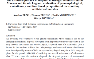 The historical practice of disposal of dredged sediments in the Marano and Grado Lagoon: evaluation of geomorphological, evolutionary and functional perspective of the resulting artificial saltmarshes